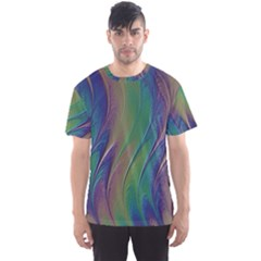 Texture Abstract Background Men s Sports Mesh Tee