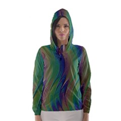 Texture Abstract Background Hooded Wind Breaker (women)