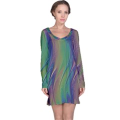 Texture Abstract Background Long Sleeve Nightdress