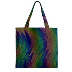 Texture Abstract Background Zipper Grocery Tote Bag
