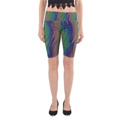 Texture Abstract Background Yoga Cropped Leggings