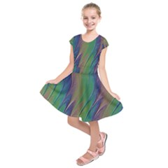 Texture Abstract Background Kids  Short Sleeve Dress