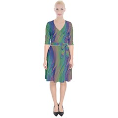 Texture Abstract Background Wrap Up Cocktail Dress