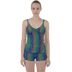 Texture Abstract Background Tie Front Two Piece Tankini