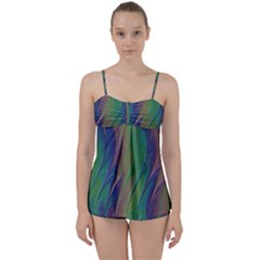 Texture Abstract Background Babydoll Tankini Set