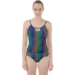 Texture Abstract Background Cut Out Top Tankini Set