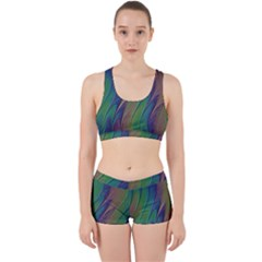 Texture Abstract Background Work It Out Sports Bra Set