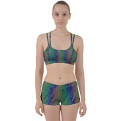 Texture Abstract Background Women s Sports Set
