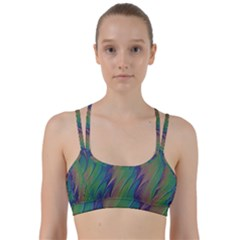 Texture Abstract Background Line Them Up Sports Bra