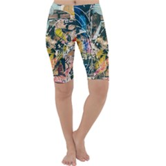 Art Graffiti Abstract Vintage Cropped Leggings