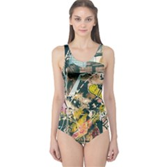 Art Graffiti Abstract Vintage One Piece Swimsuit