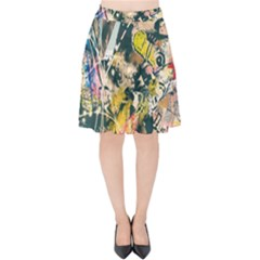 Art Graffiti Abstract Vintage Velvet High Waist Skirt