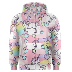 Unicorn Rainbow Men s Zipper Hoodie