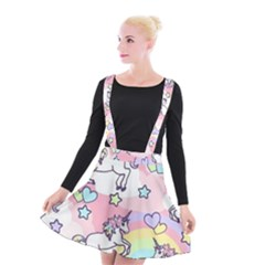 Unicorn Rainbow Suspender Skater Skirt