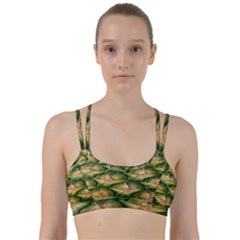 Pineapple Pattern Line Them Up Sports Bra