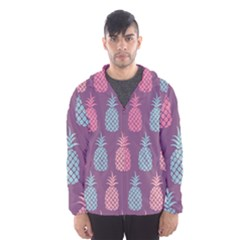 Pineapple Pattern Hooded Wind Breaker (men)