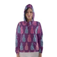 Pineapple Pattern Hooded Wind Breaker (women)