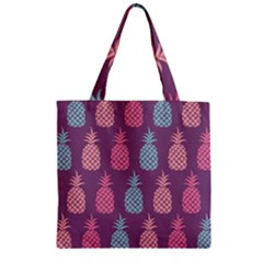 Pineapple Pattern Zipper Grocery Tote Bag