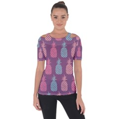 Pineapple Pattern Short Sleeve Top