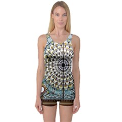 Stained Glass Window Library Of Congress One Piece Boyleg Swimsuit