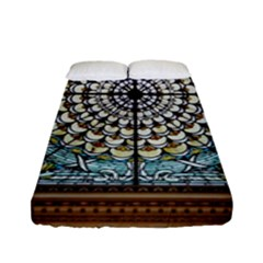 Stained Glass Window Library Of Congress Fitted Sheet (full/ Double Size)