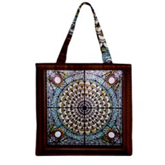 Stained Glass Window Library Of Congress Zipper Grocery Tote Bag