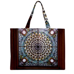 Stained Glass Window Library Of Congress Zipper Mini Tote Bag