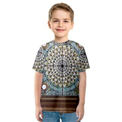 Stained Glass Window Library Of Congress Kids  Sport Mesh Tee