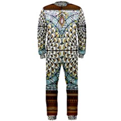 Stained Glass Window Library Of Congress Onepiece Jumpsuit (men)