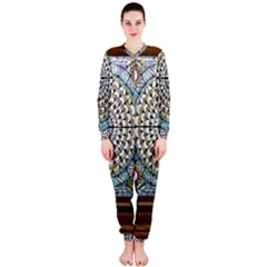 Stained Glass Window Library Of Congress Onepiece Jumpsuit (ladies)
