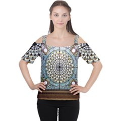 Stained Glass Window Library Of Congress Cutout Shoulder Tee