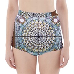 Stained Glass Window Library Of Congress High Waisted Bikini Bottoms