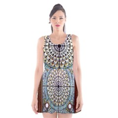 Stained Glass Window Library Of Congress Scoop Neck Skater Dress