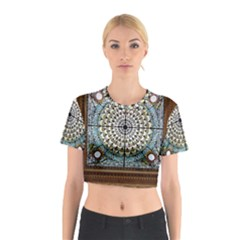 Stained Glass Window Library Of Congress Cotton Crop Top