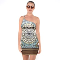 Stained Glass Window Library Of Congress One Soulder Bodycon Dress