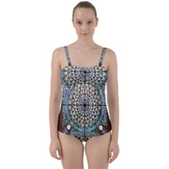 Stained Glass Window Library Of Congress Twist Front Tankini Set