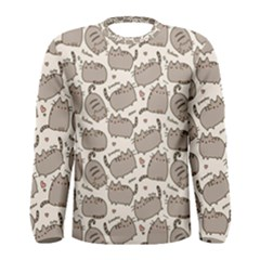 Pusheen Wallpaper Computer Everyday Cute Pusheen Men s Long Sleeve Tee