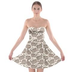 Pusheen Wallpaper Computer Everyday Cute Pusheen Strapless Bra Top Dress