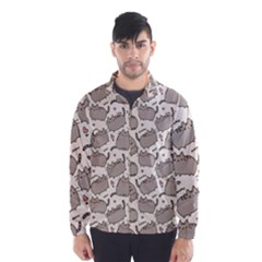 Pusheen Wallpaper Computer Everyday Cute Pusheen Wind Breaker (men)