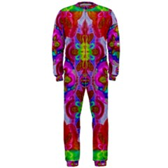 Fantasy   Florals  Pearls In Abstract Rainbows Onepiece Jumpsuit (men)
