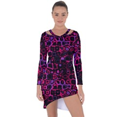 Psychedelic Lights 3 Asymmetric Cut Out Shift Dress