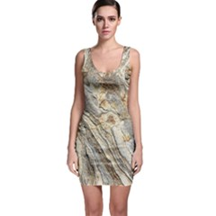 Background Structure Abstract Grain Marble Texture Bodycon Dress
