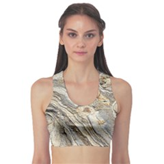 Background Structure Abstract Grain Marble Texture Sports Bra