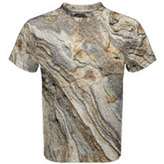 Background Structure Abstract Grain Marble Texture Men s Cotton Tee