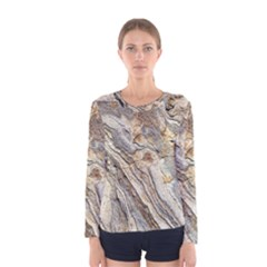 Background Structure Abstract Grain Marble Texture Women s Long Sleeve Tee