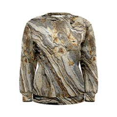 Background Structure Abstract Grain Marble Texture Women s Sweatshirt