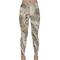 Background Structure Abstract Grain Marble Texture Classic Yoga Leggings