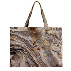 Background Structure Abstract Grain Marble Texture Zipper Mini Tote Bag
