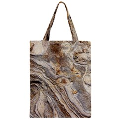 Background Structure Abstract Grain Marble Texture Zipper Classic Tote Bag