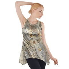 Background Structure Abstract Grain Marble Texture Side Drop Tank Tunic